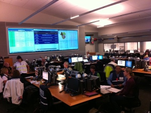 County staff in the Emergency Operations Center.