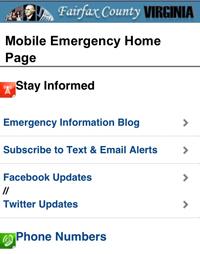 Mobile Emergency Homepage