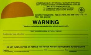 Yellow Placard