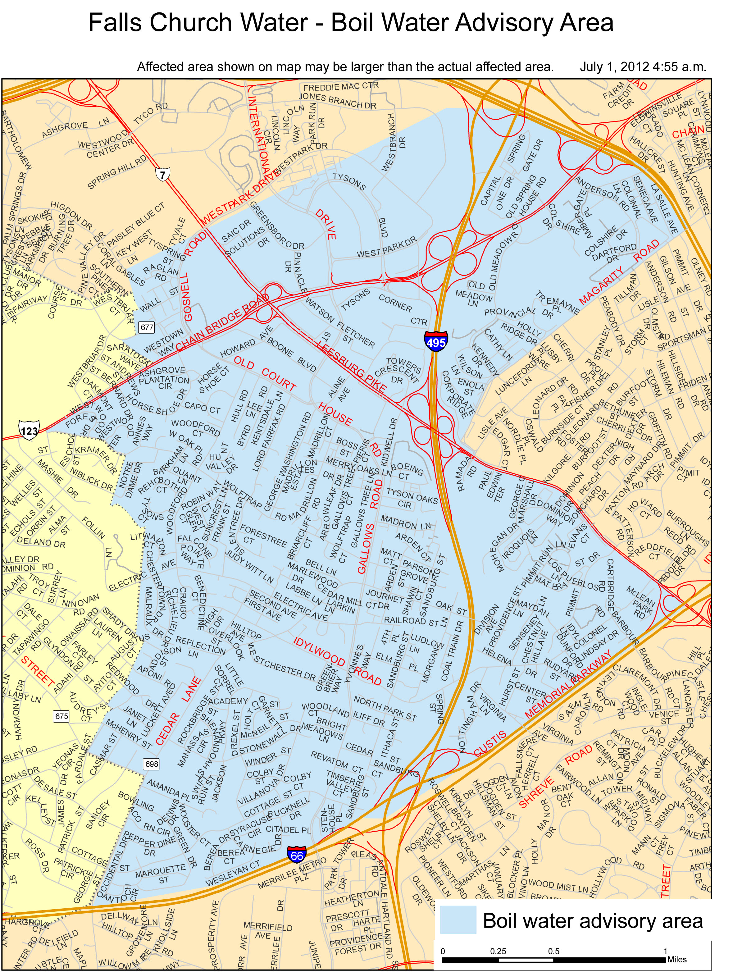 Fairfax county water hookup
