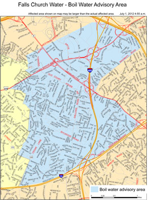 Boil Water Advisory Map