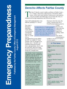 Emergency Preparedness Newsletter August 2012