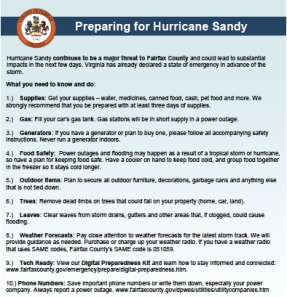 hurricane sandy flyer