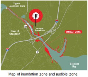 Occoquan Dam Inundation Zone Map