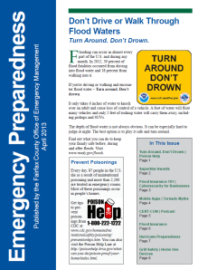 Emergency Preparedness Newsletter - April 2013 - from the Fairfax County Office of Emergency Management