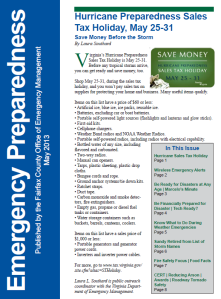 "May ""Emergency Preparedness"" newsletter"