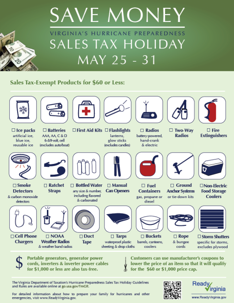 Hurricane Sales Tax Holiday Flyer