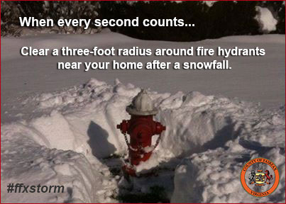 clear fire hydrants