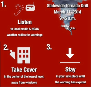 statewide tornado drill March 11, 2014