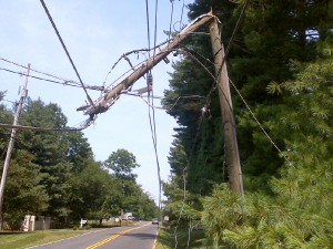 broken power line