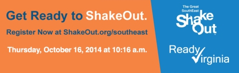 Southeast Shakeout Drill -- Oct. 16, 2014 at 10:16 a.m.