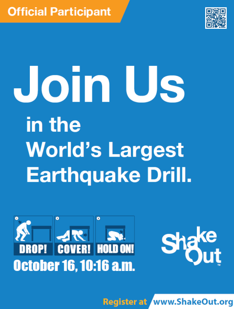 southeast shakeout earthquake drill