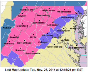 NWS Weather Advisory (11-25-14)