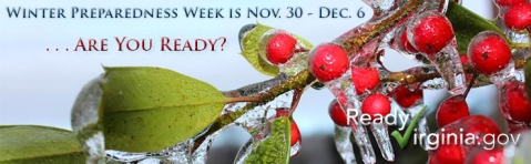 Winter Preparedness Week in Virginia