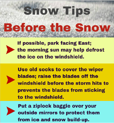 Infographic Tips Before it Snows