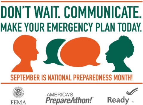 Don't Wait. Communicate. National Preparedness Month 2015