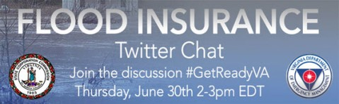Flood Insurance Twitter Chat, 2 p.m. on Thursday, June 30, 2016
