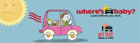 Look before you lock -- don't leave children or pets unattended in vehicles