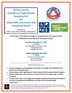 access and functional needs emergency resource fair