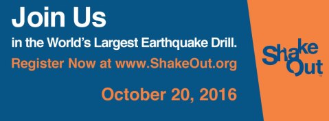 Southeast ShakeOut Drill Oct. 20, 2016, 10:20 a.m.