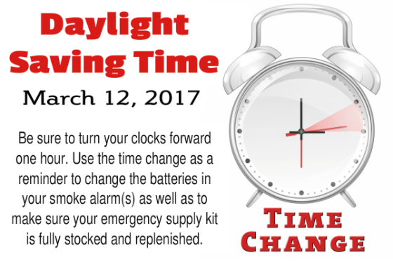 Daylight Saving Time March 12, 2017