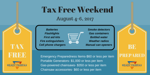 Virginia sales tax free weekend 2017