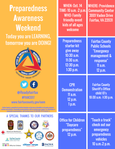 Preparedness Event Weekend (PAW2017)