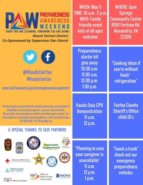 Preparedness Awareness Weekend May 5, 2018