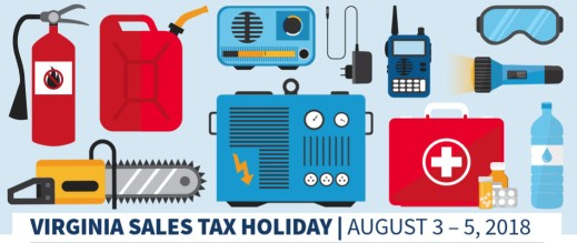 Virginia Sales Tax Holiday 2018