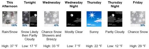 weather forecast Jan. 29